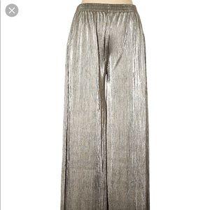 torn by Ronny kobo pleated gold metallic pants